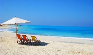 pláž obzor